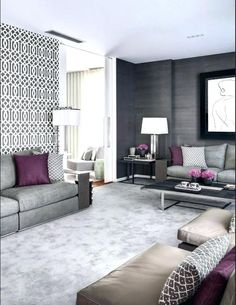 Grey And Mauve Living Room New Blog Wallpapers Couch Character