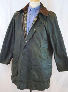 Green BARBOUR GAMEFAIR WAX Jacket Men's UK Sz 40 #Barbour #BasicJacket #wax #waxjacket #Englishstyle #gamefair #plaid