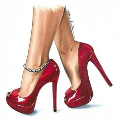 I would almost certainly break my ankles in these.but doesn't mean I can't draw them and drool over them 😁 do any of you have shoes like… Source by dinamissiry drawing Moda Fashion, Fashion Art, Fashion Shoes, Fashion Illustration Shoes, Stiletto Heels, High Heels, Shoe Sketches, Fashion Design Sketches, Shoe Art