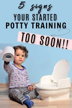 It's time to slam the brakes on potty training when these things happen! Signs you started potty training too soon - it is OK to give up and give yourself a break then start again another day! Toddler Potty Training, Potty Training Tips, Toilet Step, Car Seat Pad, I Have A Plan, Too Soon, Going On Holiday, Things Happen, Shit Happens