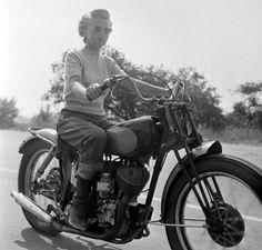 Motorcyclist, California, 1949. photographer: Loomis Dean.