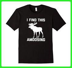 Mens I Find This Amoosing T-Shirt funny saying animal moose humor XL Black - Animal shirts (*Amazon Partner-Link)