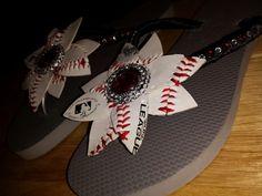 Baseball toe bling.