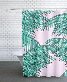 Palm trees als Duschvorhang von Floor Boers   JUNIQE
