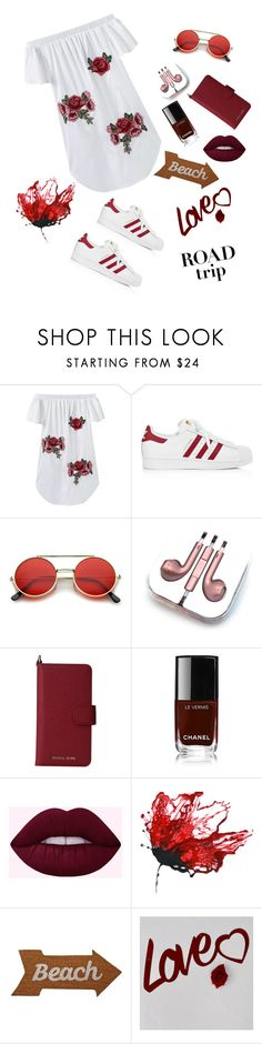 """""""Road trip"""" by aminadj ❤ liked on Polyvore featuring adidas, PhunkeeTree, MICHAEL Michael Kors, Chanel and Mud Pie"""