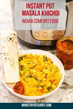 This healthy meal is a vegetarian, one-pot, gluten free dish with lentils, rice and vegetables. Healthy Indian Recipes, Best Vegetarian Recipes, Delicious Dinner Recipes, Curry Recipes, Veggie Recipes, Ethnic Recipes, Indian Snacks, Veggie Food, Gluten Free Recipes