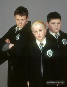 Harry Potter and the Sorcerer's Stone - Promo shot of Tom Felton, Jamie Waylett & Josh Herdman Mundo Harry Potter, Harry Potter Characters, Harry Potter Love, Harry Potter Memes, Harry Potter World, Harry Potter Quiz Buzzfeed, Harry Potter Draco Malfoy, Draco And Hermione, Tom Felton