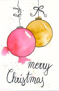 weihnachtskarten aquarellieren geschenke schon verpacken poodle boudoir a blissful christmas