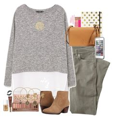 """""""hey there delilah"""" by smbprep ❤ liked on Polyvore featuring Wrap, MANGO, Nine West, Ginette NY, Urban Decay, Alex and Ani, Kate Spade, Tory Burch, Too Faced Cosmetics and LifeProof"""