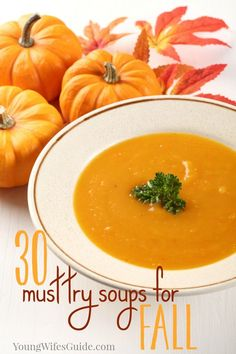 Fill your fall meal plan up with these warm, hearty and comforting must try soups for fall! http://creativehomekeeper.com/soups-for-fall/