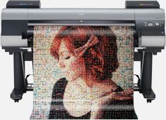 This website is amazing! They make a photo mosaic with your instagram or Flickr photos!   Postrgram