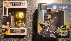 Pop! Funko Gold Batgirl Funko and Q-Pop Batman Figurines #FunkoPopQPop