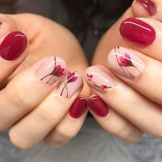 Nail art Christmas - the festive spirit on the nails. Over 70 creative ideas and tutorials - My Nails Spring Nail Art, Spring Nails, Cherry Blossom Nails, Cherry Blossoms, Nagellack Design, Japanese Nails, Manicure E Pedicure, Manicure Ideas, Pretty Nail Art