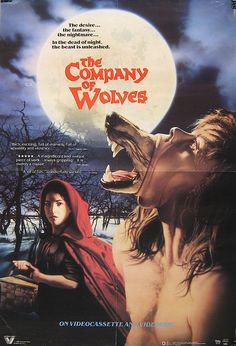 A description of tropes appearing in Company of Wolves. A 1984 horror/fantasy film directed by Neil Jordan and written by Angela Carter. Horror Icons, Horror Movie Posters, Cinema Posters, Horror Films, Scary Movies, Great Movies, Fantasy Films, Best Horrors, Vintage Horror