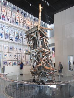 Antenna from the North Tower of the World Trade Center, after in DC World Trade Center Museum, Trade Centre, World Trade Center Pictures, World Trade Towers, 11 September 2001, Day Of Infamy, North Tower, Manhattan New York, Belle Villa