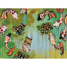 GreenBox Art Koi Fish by Eli Halpin Painting Print on Wrapped Canvas   Wayfair