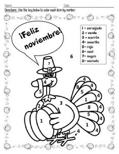 spanish coloring pages for thanksgiving - photo#13