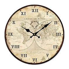 Country World Wall Clock - USD $ 39.99