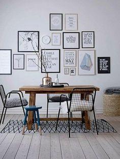 arbeitszimmer weltkarte schwarz weiß wandgestaltung | black ... - Wohnungseinrichtung Schwarz Wei