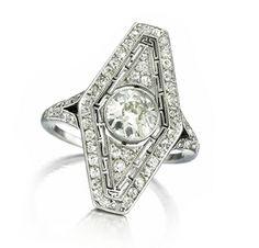 An Art Deco Diamond Ring, circa 1915. Via FD Gallery, www.fd-inspired.com