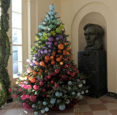 One of the White House Christmas trees -I LOVE