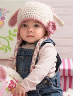 40+ Crochet Animal Hat with Patterns -Sweet Bunny Hat