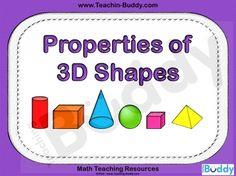 Properties of 3D Shapes teaching resource - PowerPoint and woeksheets
