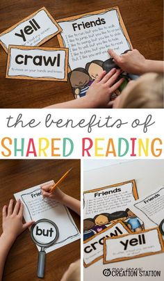 Why is shared reading so important? There are many benefits to shared reading that you may not be aware of. I give you some tips on how to implement shared reading into your day. Plus, I explain some of the benefits of shared reading. Reading Strategies, Reading Activities, Literacy Activities, Teaching Reading, Homeschooling Resources, Guided Reading, Classroom Resources, Teacher Resources, Primary Resources