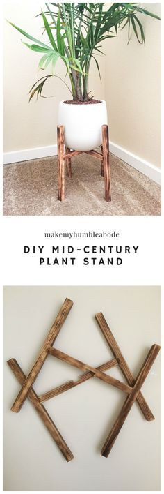 This is your solution to the perfect plant storage idea yet! This DIY Mid-Century plant stand project is easy & affordable, and it doesn't require any fancy tools or previous knowledge of woodwork.