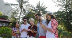 People Group Use Cell Smart Phones Talking Walking Men And Women Over Tropical Stock Footage, App Design, Icon Design, Stock Footage, Smartphone, Company Brochure, Video Footage, Stock Video, Couple Photos, Men And Women