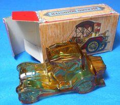 """Vintage Avon Packard Roadster """"Öland"""" Cologne Bottle With Original Box"""