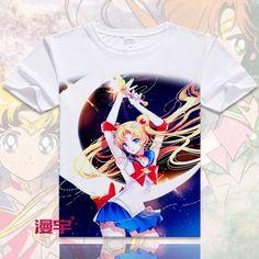 Aliexpress.com: Comprar Sailor Moon T Shirt de Anime Sailor Moon Tsukino Usagi Cosplay hermosa chica manga corta transpirable camiseta para hombres mujeres de t shirts for men fiable proveedores en BlueDream Anime Store