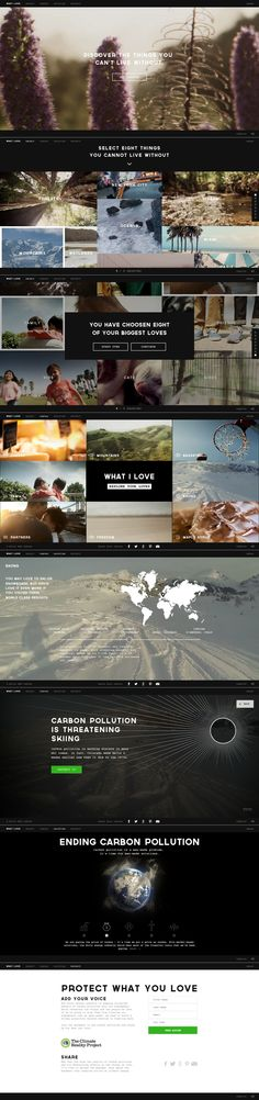 What it love \\ Beautiful website. Clever way to call people to action. http://www.whatilove.org