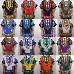 Dashiki Mens Shirt African Top Hippie Vintage Boho Tribal Womens Blouse One Size Dashiki Shirt Mens, African Dashiki Shirt, African Blouses, African Tops, African Shirts, African Clothing For Men, African Men Fashion, African Fashion Dresses, African Attire