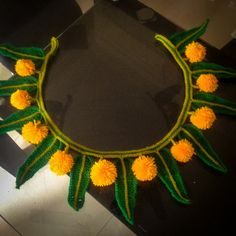 Would love to crochet this! Indian Marigold Garland Bunting