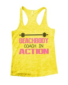 Beachbody Coach In Action Burnout Tank Top By Funny Threadz - 752