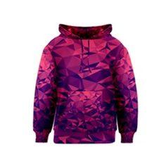 Futuristic 3d Purple Kid s Pullover Hoodie by LGKBH