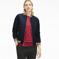 WOMEN'S DIAMOND QUILTED REVERSIBLE BOMBER JACKET #style #fashion #trend #onlineshop #shoptagr