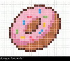 Donut perler bead pattern