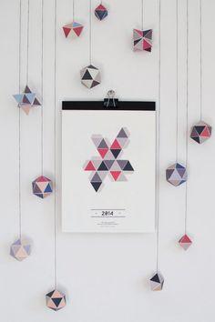 "Calendar 2014 - ""Geometry"" from Hinzhej"