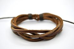 Men Bracelet Brown Braided Leather Bracelet Fashion Handmade Leather Jewelry Fashion leather jewelry,the best Christmas gift.