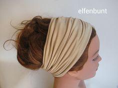 Haarband SAND 14 cm  von  Maria Elfenbunt auf DaWanda.com