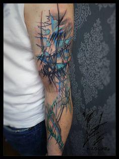Tattoo uploaded to Tattoofilter Boy Tattoos, Line Tattoos, S Tattoo, Black Tattoos, Sleeve Tattoos, D Line, Free Hand Tattoo, Tattoo Equipment, Original Tattoos