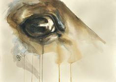 Horse Look 42 Original Watercolor Painting. $637.00, via Etsy.    #HorseArt #Equine Art #Horse