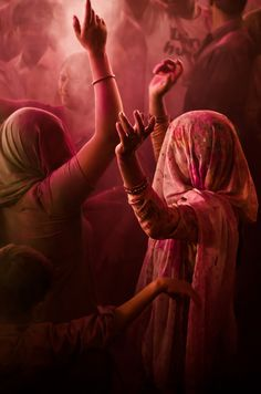 Holi dance, Barsana Temple, India
