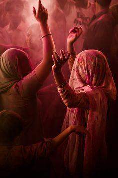 Holi dance, Barsana Temple, India