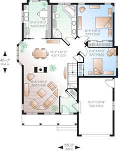 Plan 23 785   Houseplans.com   Must Admit I Post Because I Love The Idea Of  Purple!!!! | Small Architectural Designs | Pinterest | House, Smallest House  And ...