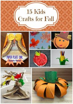15 kids crafts for fall