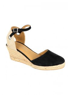 9a4bb6952 Get ready for summer evenings and days out in these women's closed toe  espadrille shoes. Featuring a woven ankle and closed toe, plus an  espadrille wedge, ...