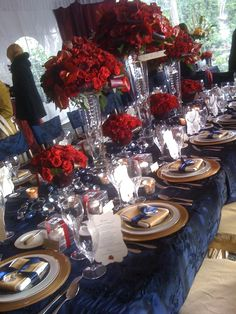 black and red reception gold